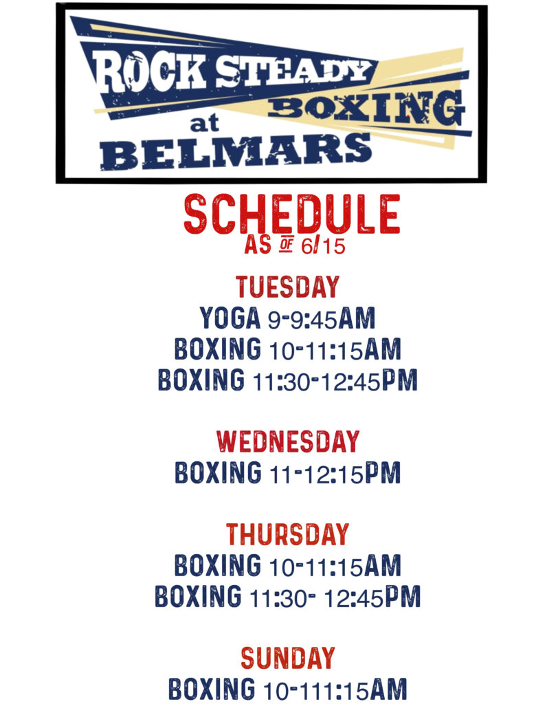 Boxing for Parkinson's Class Schedule