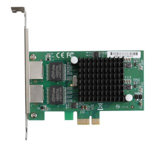 TXA020 Intel 82575 Dual RJ45-poorten NIC 10/100/1000 Gigabit PCI Express PCIE x1 netwerkkaartadapter