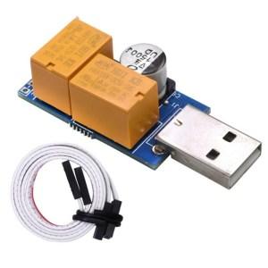 USB-Watchdog kaart dubbele Relay zonder toezicht automatisch opnieuw starten blauw scherm Crash Timer opnieuw opstarten voor 24u Mining Server Gaming
