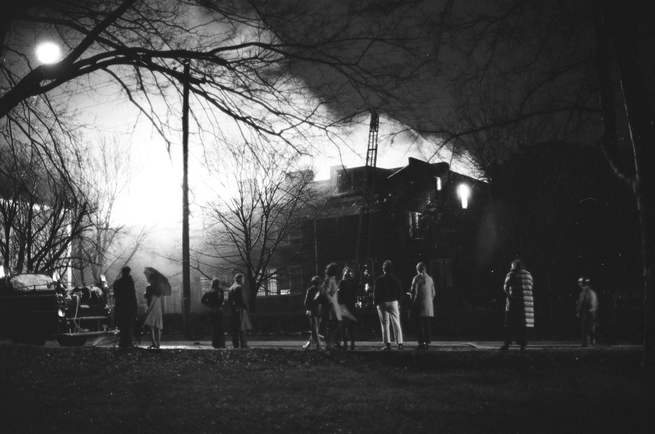 Blanton Hall catches fire