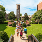 Original Bell Tower still welcomes prospective students to campus