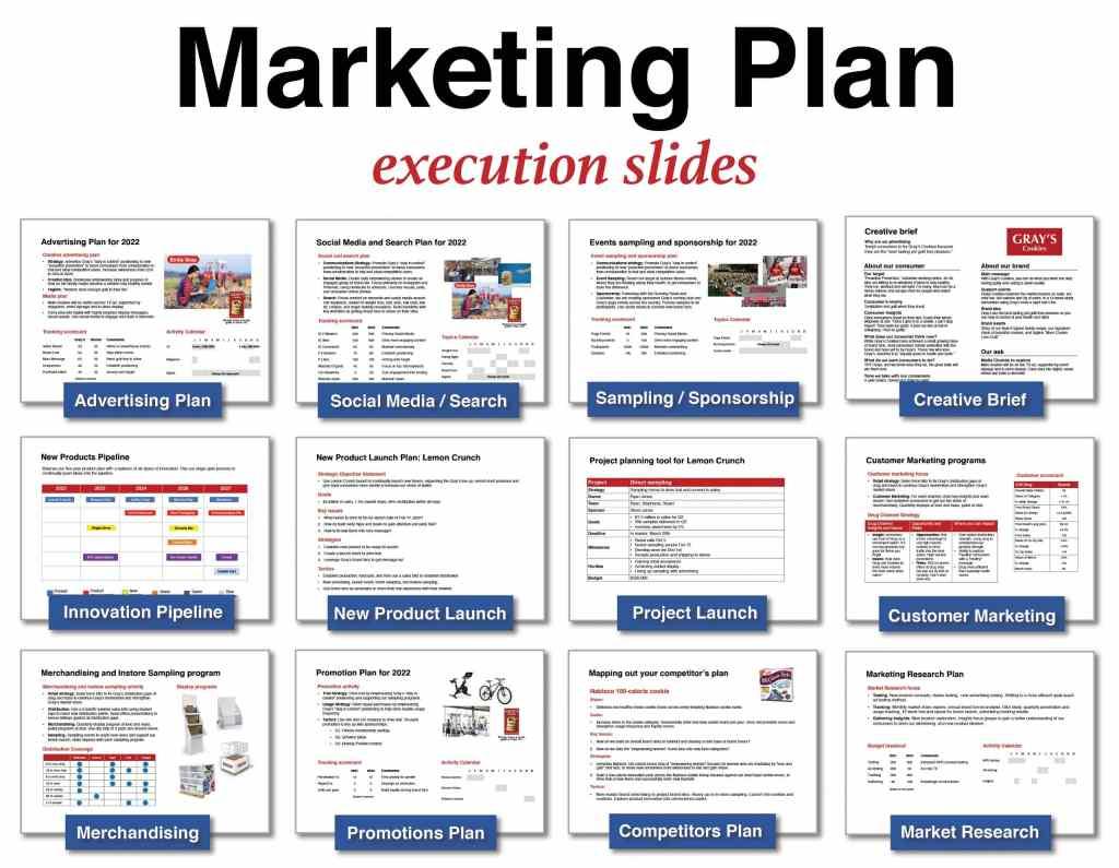 Marketing Plan template execution slides