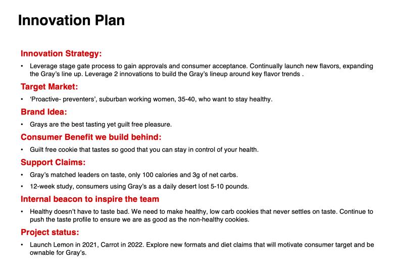 Marketing Plan template Innovation Plan brand plan example
