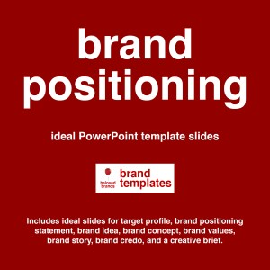 Brand Positioning template