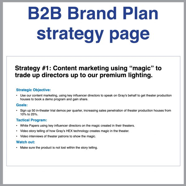 B2B Toolkit Brand Plan Strategy Page