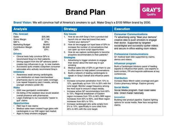 Healthcare Brand Plan