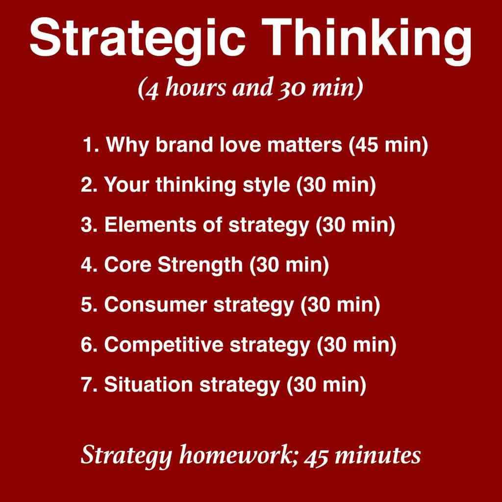 Mini MBA strategic thinking timing