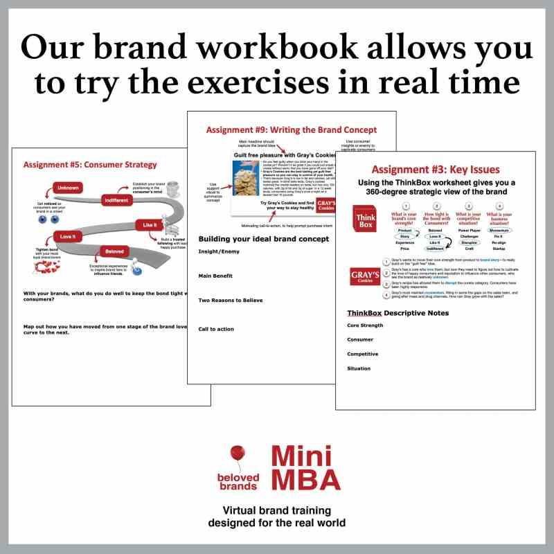 brand workbook mini mba