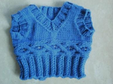 blue vest...