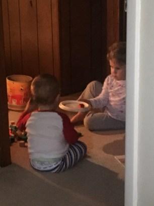 teaching JB how to play