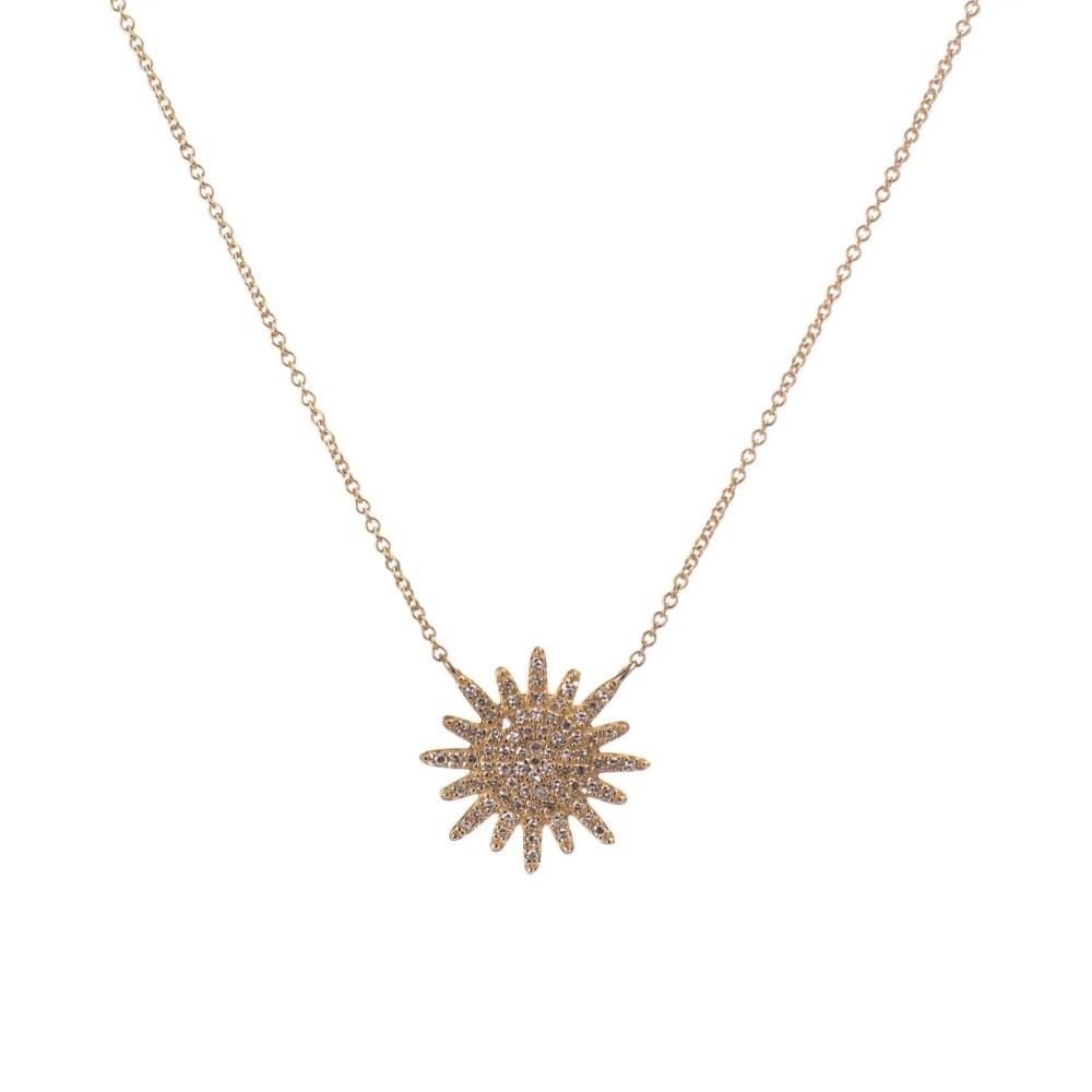 Diamond Sunburst Necklace