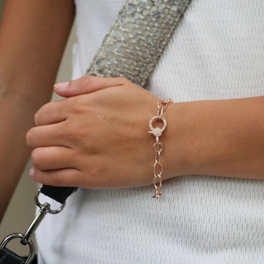Chain Bracelet with Diamond Clasp