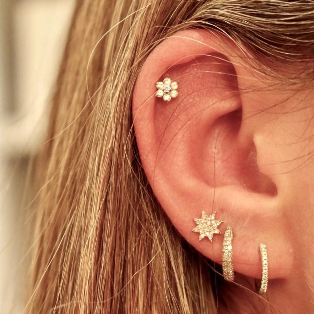 Mini Diamond Huggie Earrings