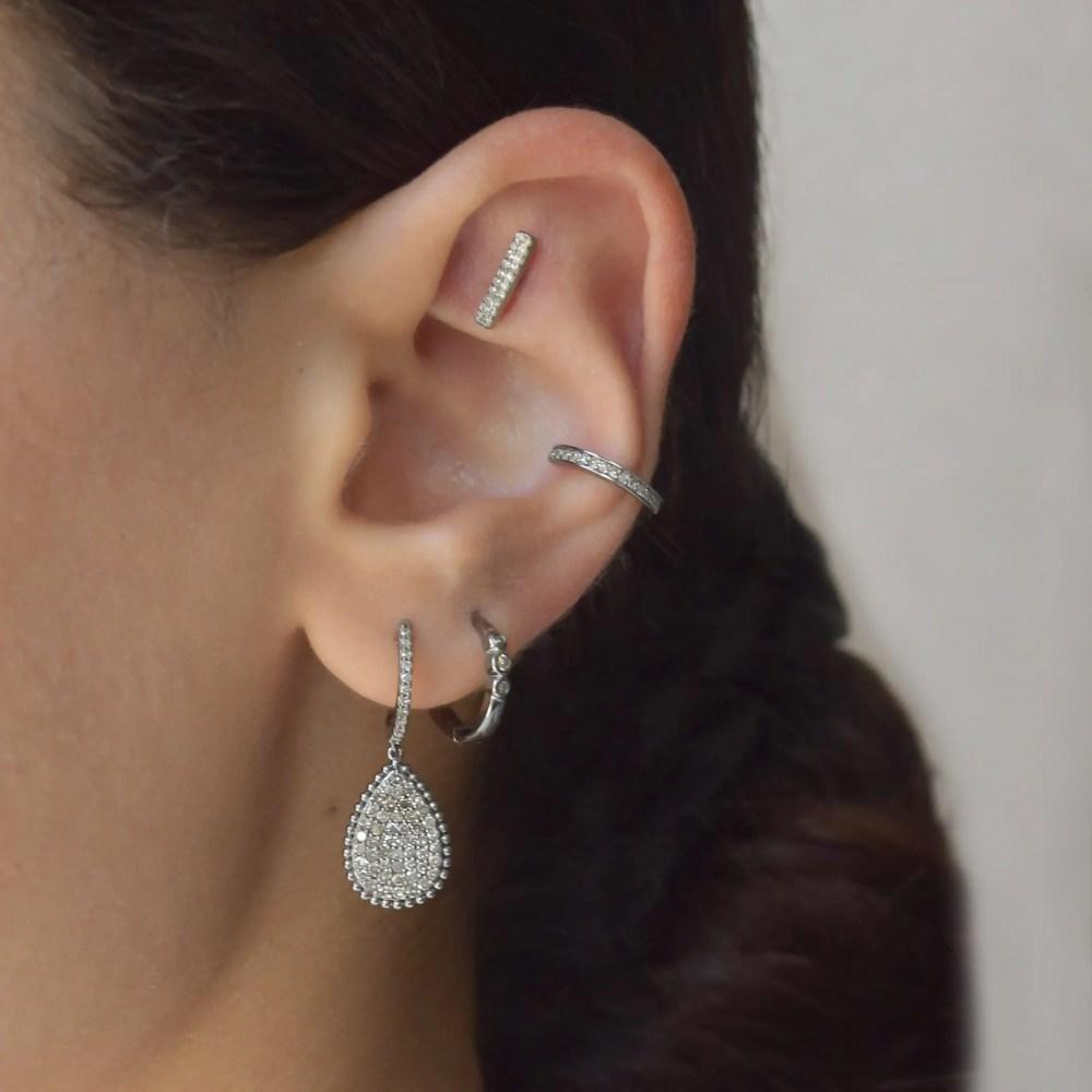 Diamond Bar Earrings