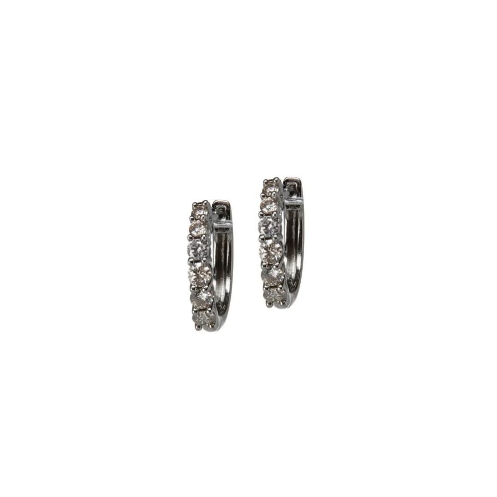 Mini Solitaire Diamond Huggie Earrings