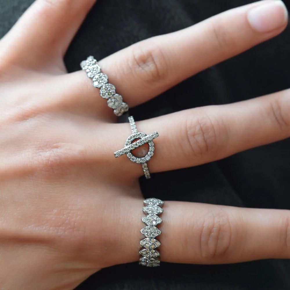 Diamond Toggle Ring