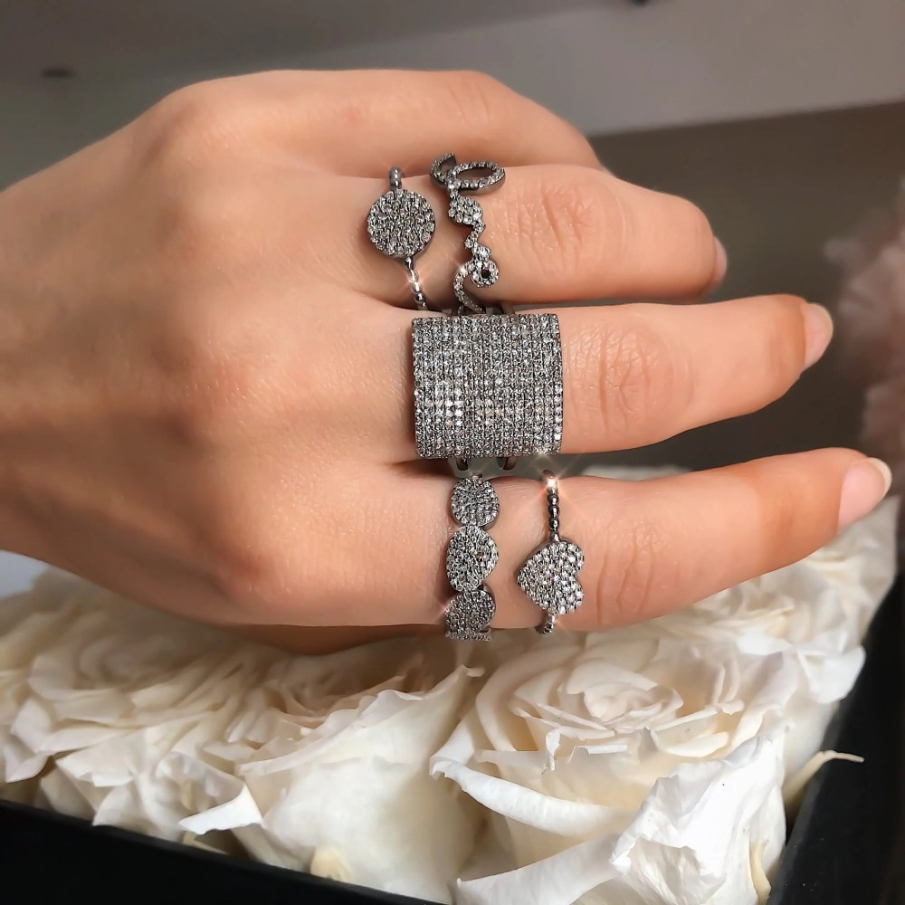 Diamond Pebble Ring