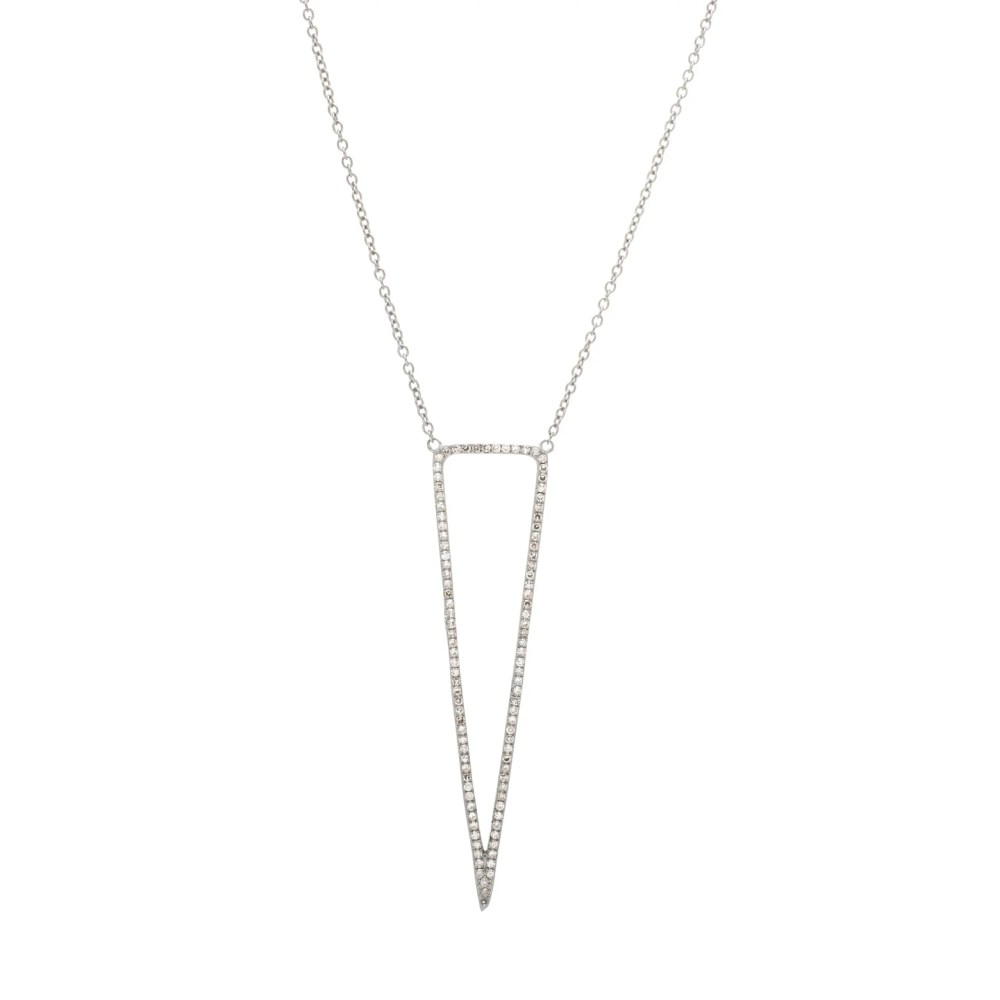 Diamond Open Triangle Necklace