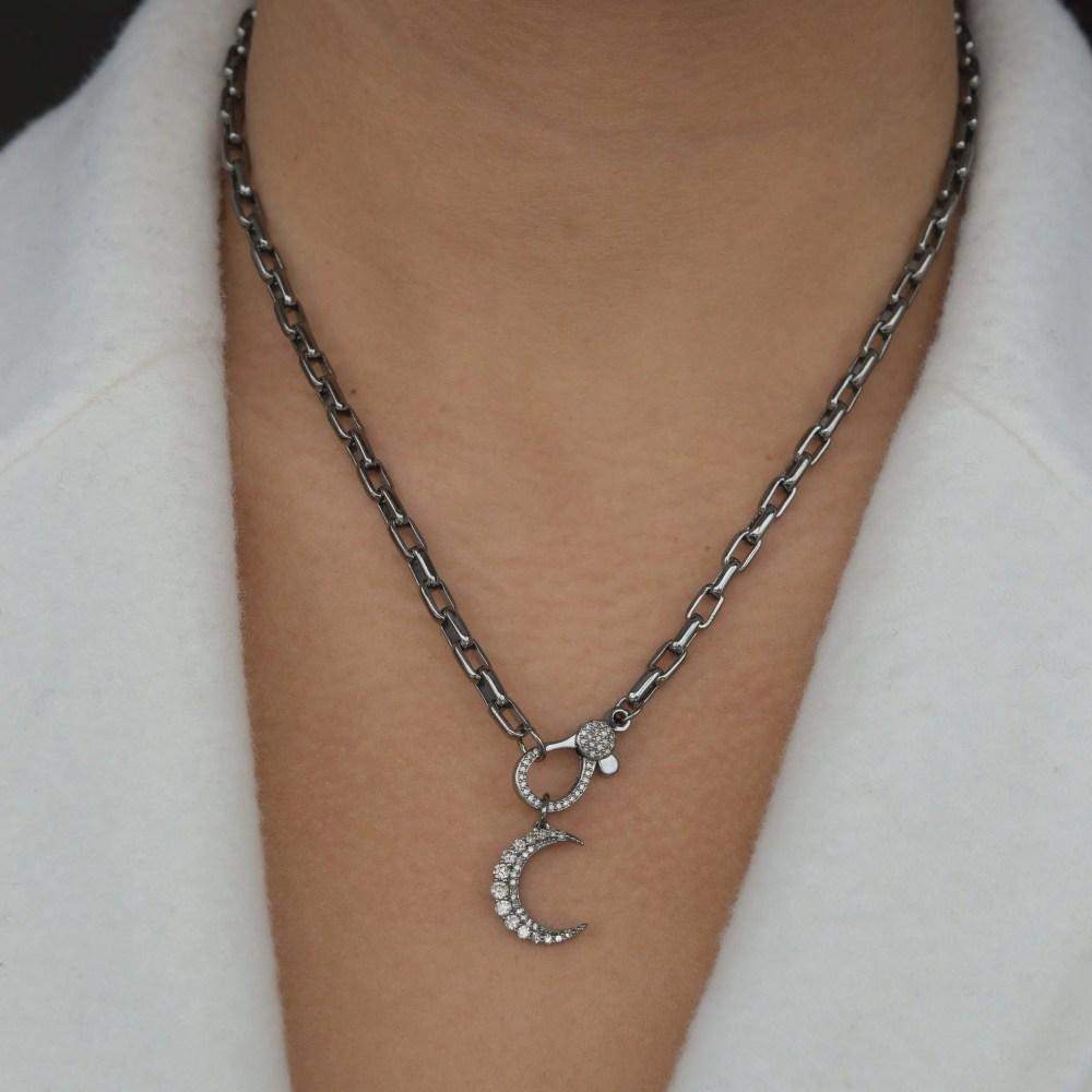 Crescent Diamond Charm
