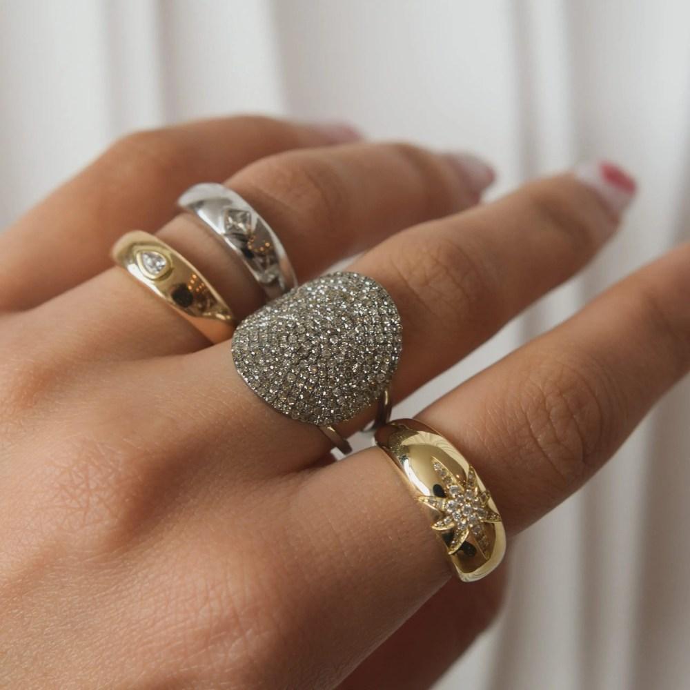 Large Round Diamond Ring
