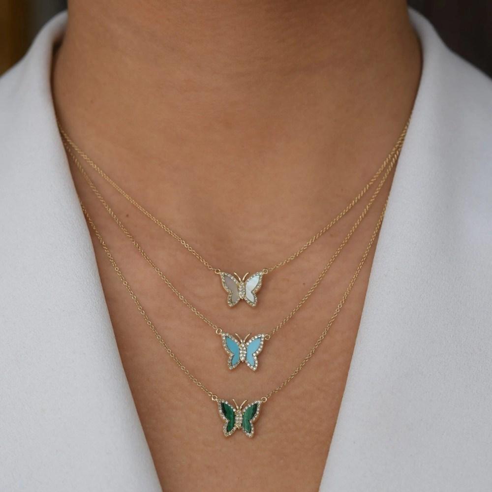 Diamond Mini Butterfly Necklace
