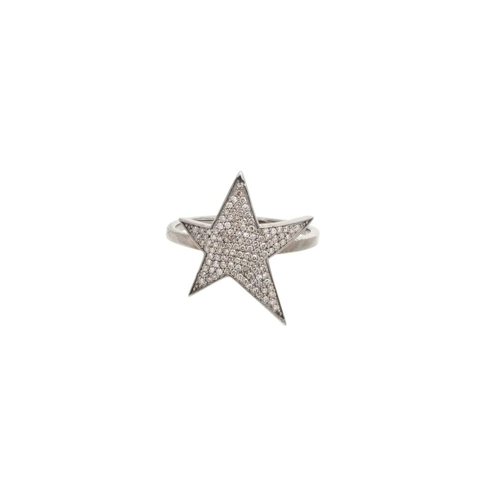 Asymmetrical Star Ring Sterling Silver