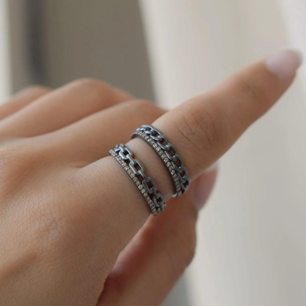 Diamond Curb Link Ring