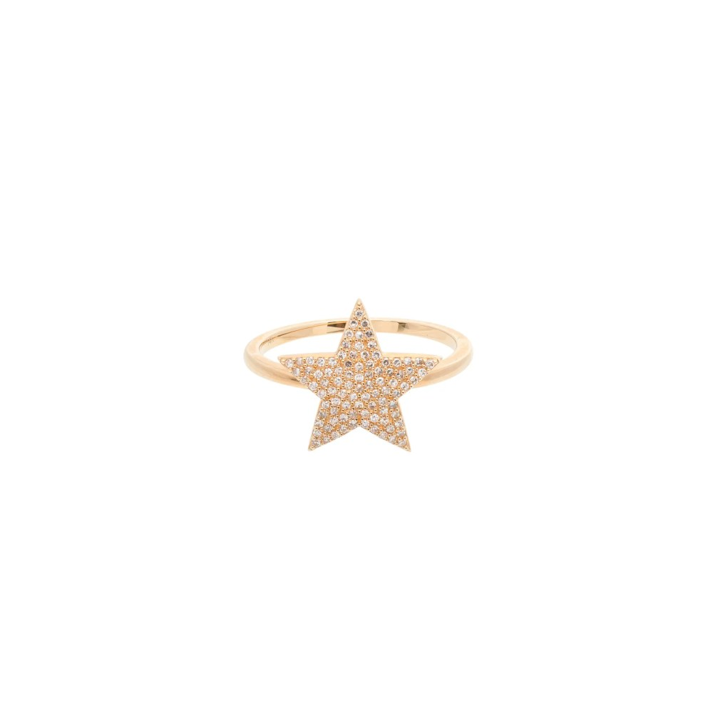 Diamond Star Ring Yellow Gold