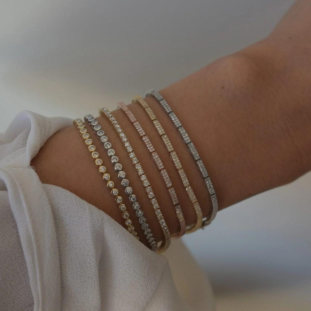 Diamond Round Bezel Set Tennis Bracelet