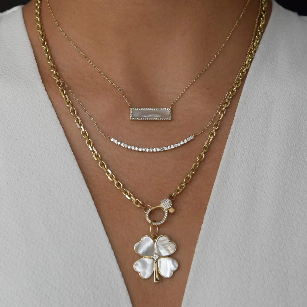 Mother-of-Pearl Clover Charm