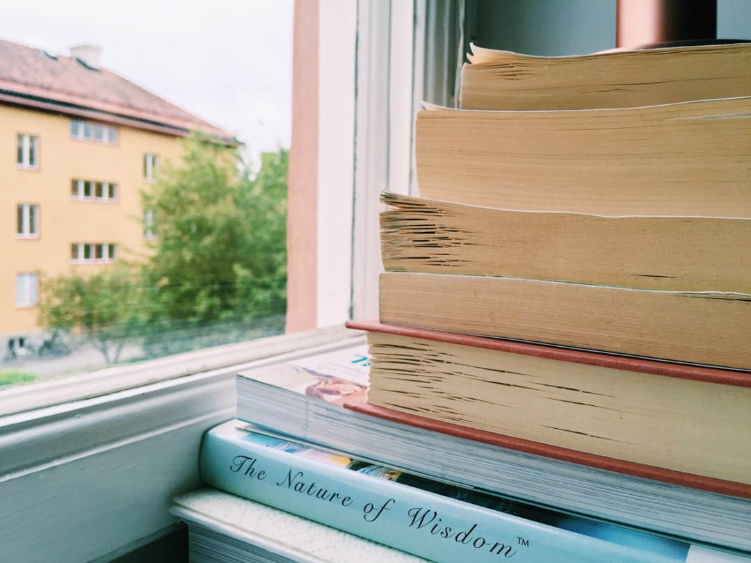 books-rain