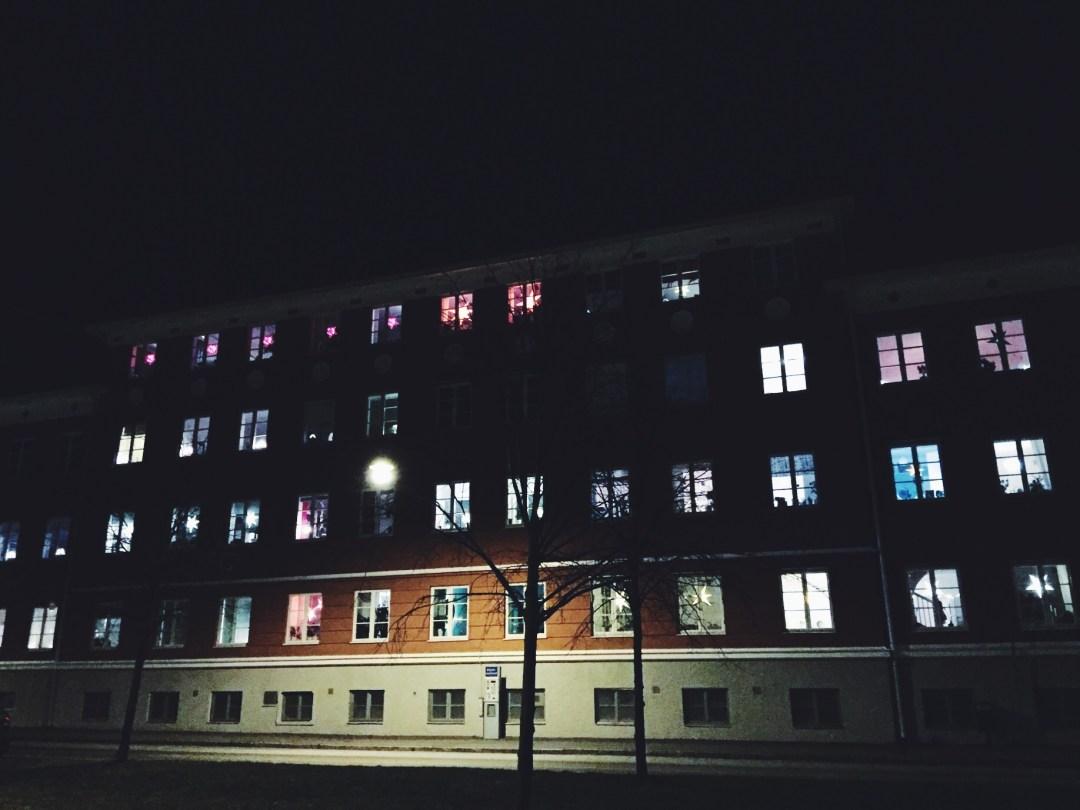 stars windows sweden darkness