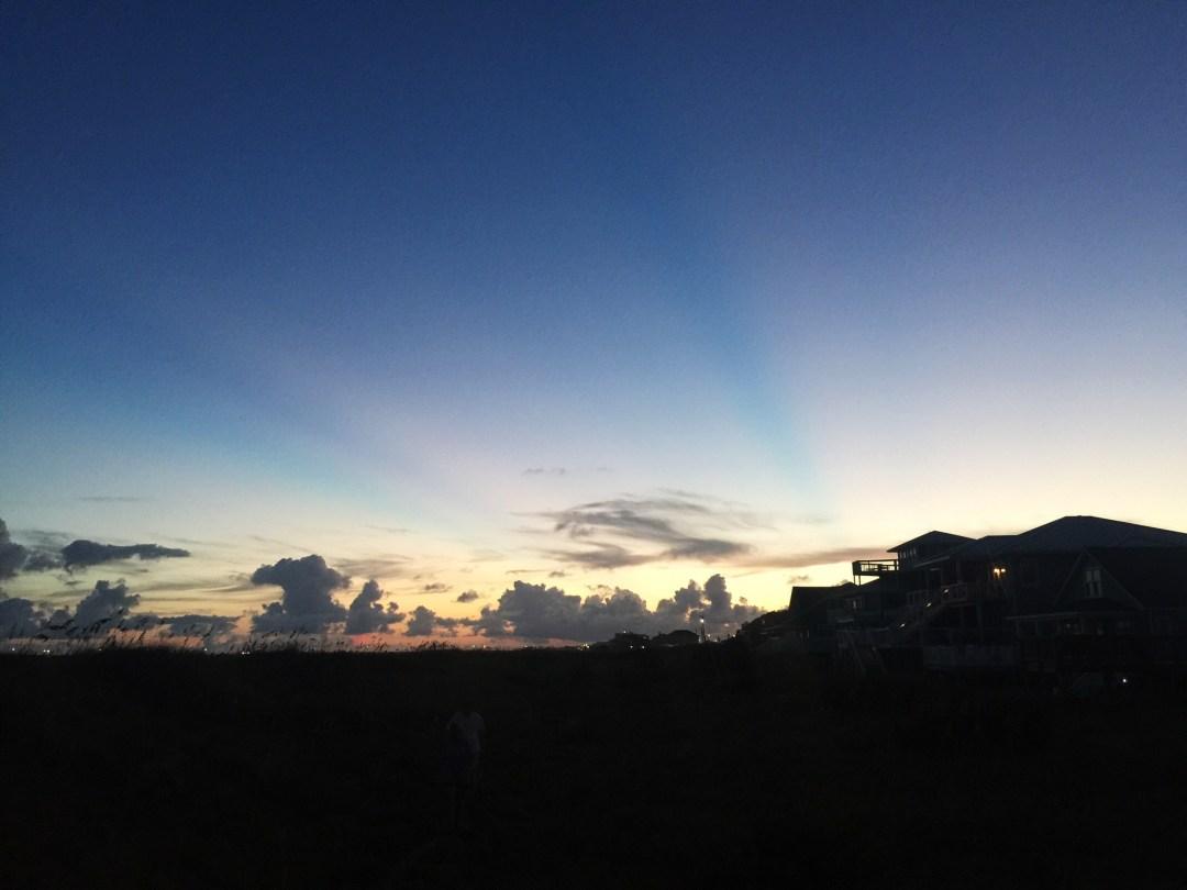 atlantic beach family sunset