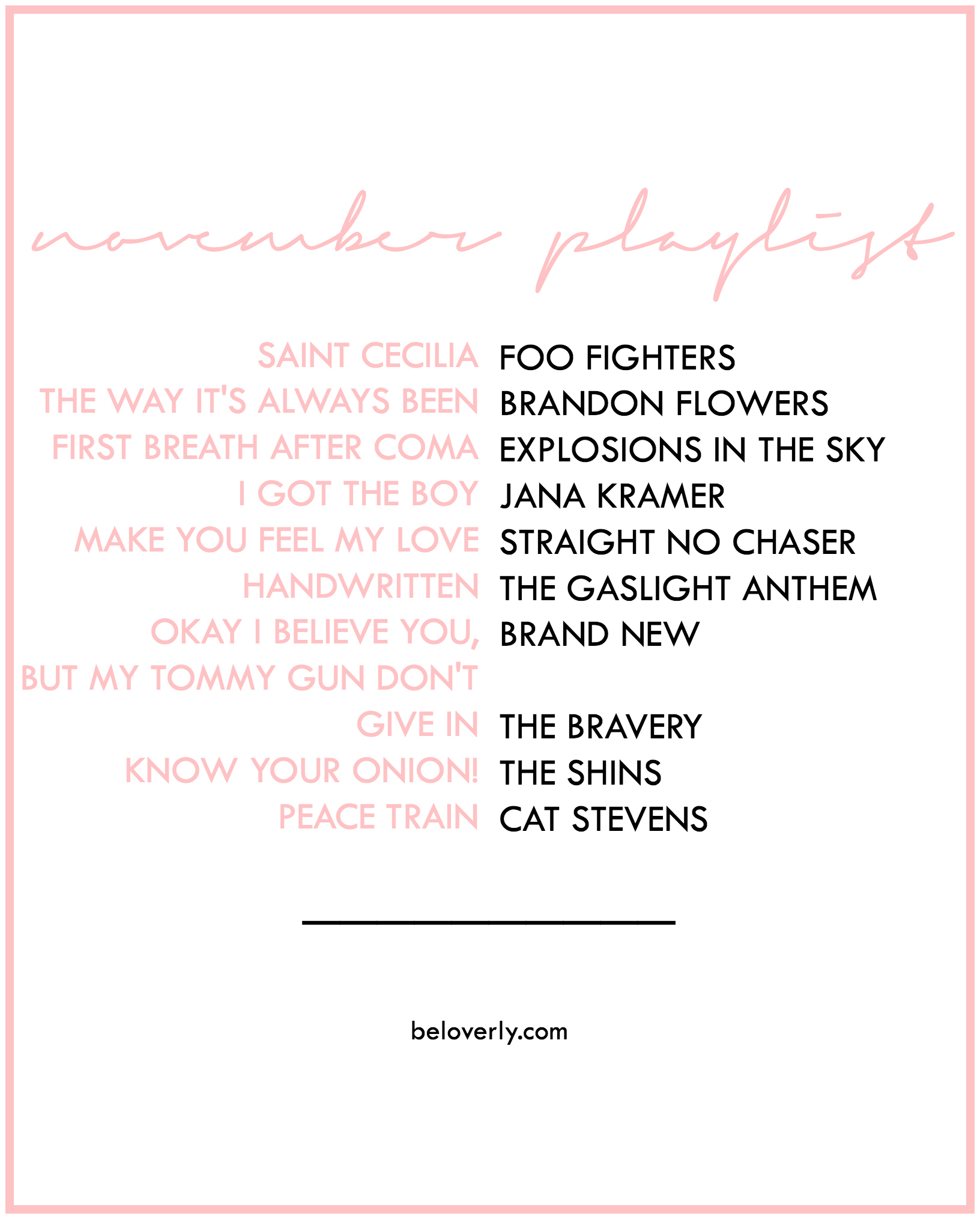 novemberplaylist2015