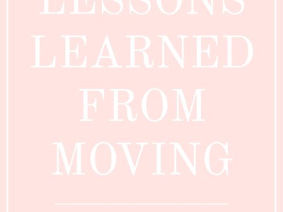 Lessons Learned from Moving