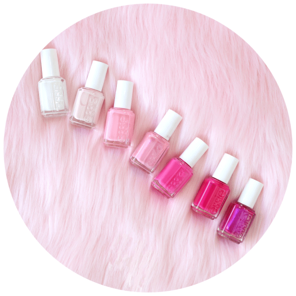 Pink nail polish for DIY manicure
