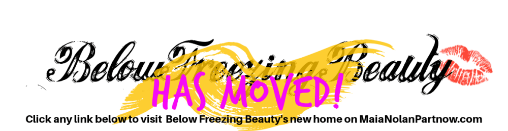 Below Freezing Beauty has moved - click any link below to visit the new site!