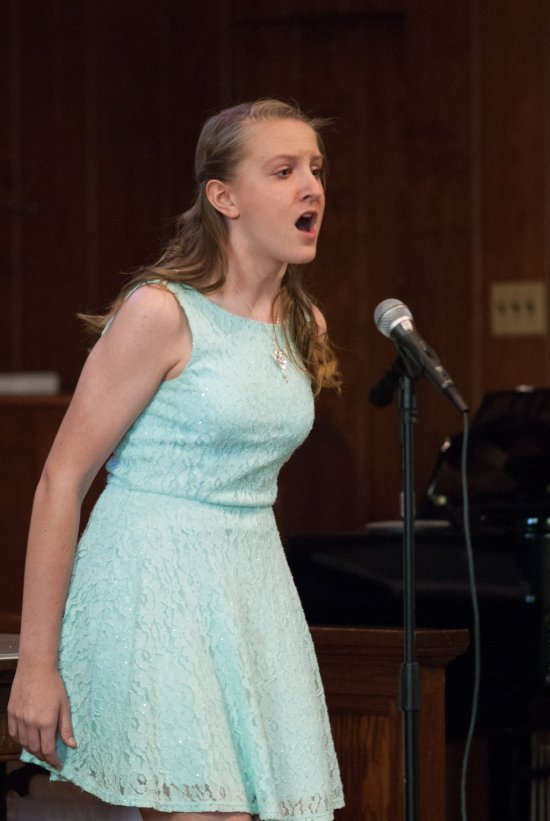 Kendall at my annual recital