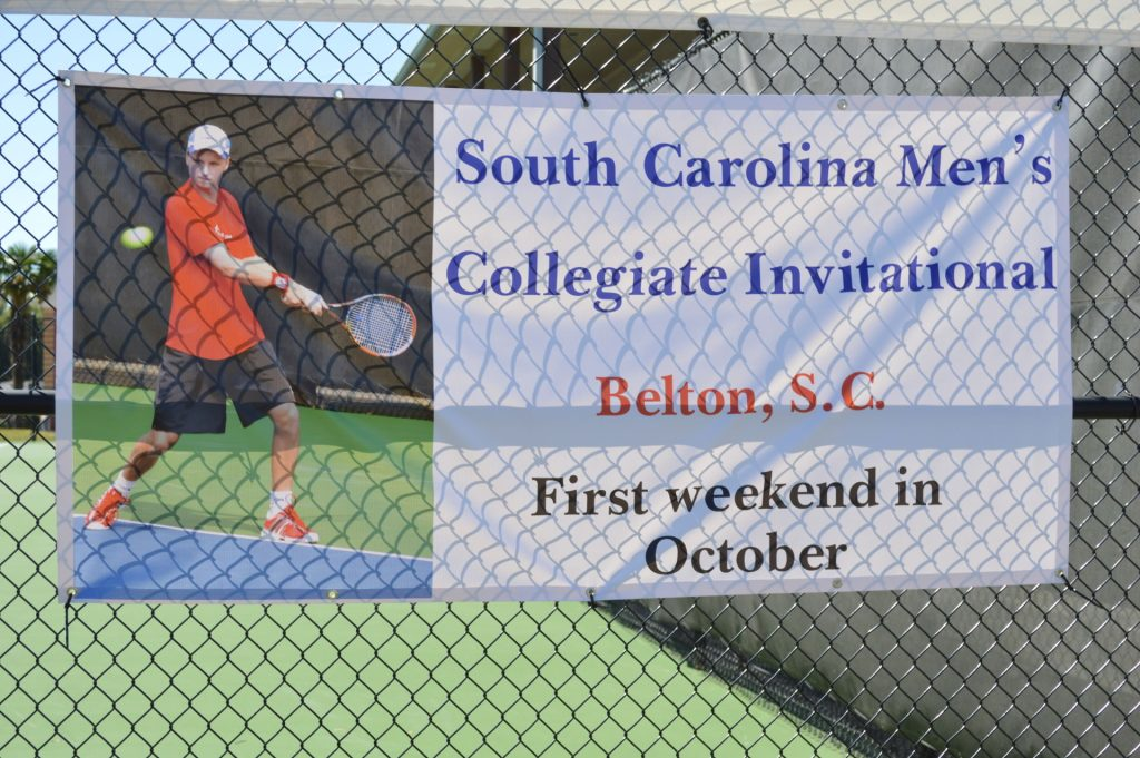The South Carolina Men's Collegiate Championships are played in Belton the first weekend of October each year