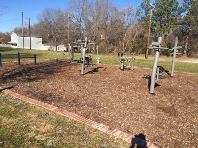 Exercise Equipment Installed Near The Trail Head