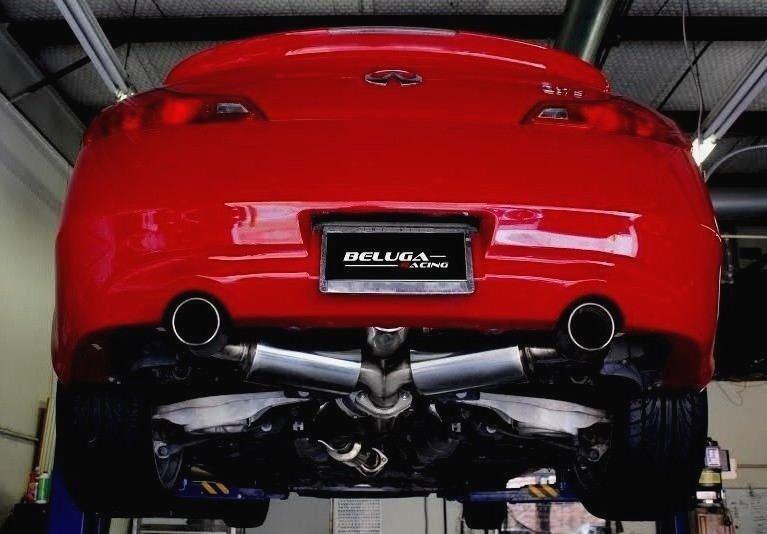 beluga racing performance resonated exhaust for infiniti g37 08 13 vq37vhr