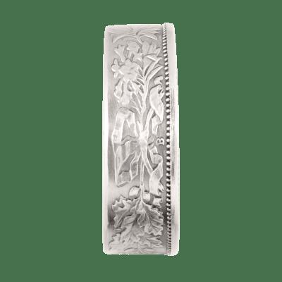 """Bague Belvetica, Frs 2.-, design """"Fleurs"""", gris, brillante."""