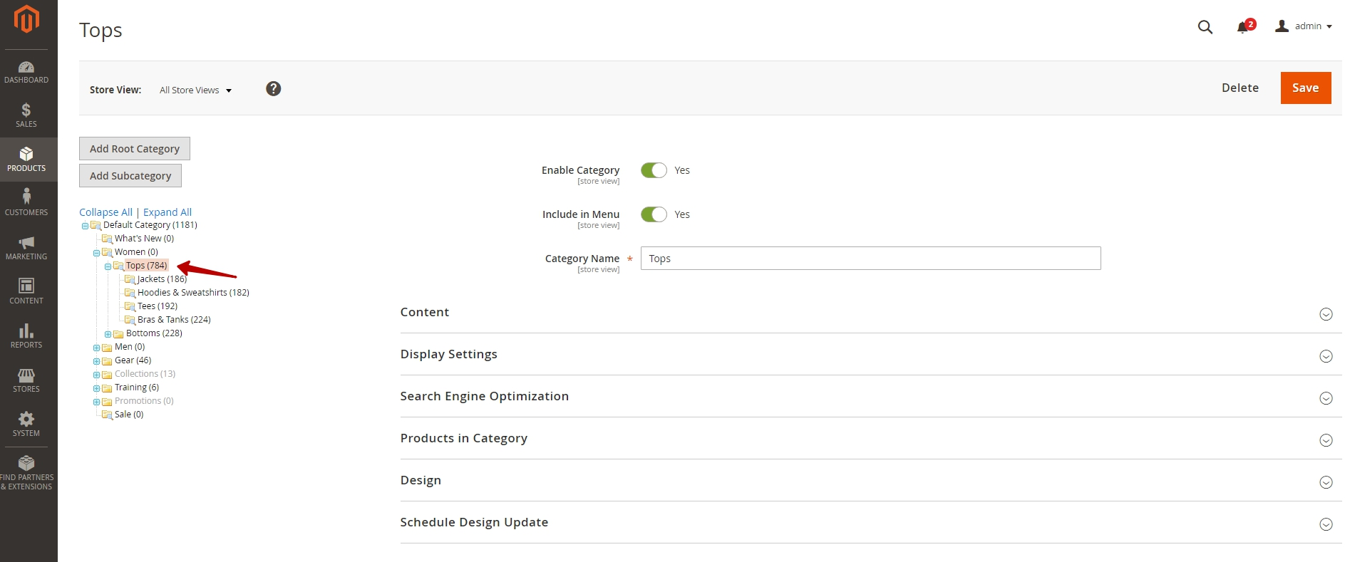 Static Blocks On A Category Page In Magento 2 0