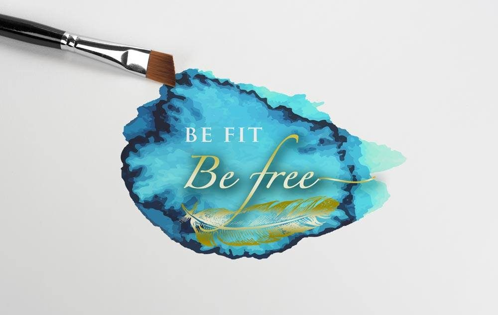 Be Fit Be Free Logo Design