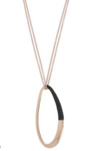 necklace, pesavento, rose gold