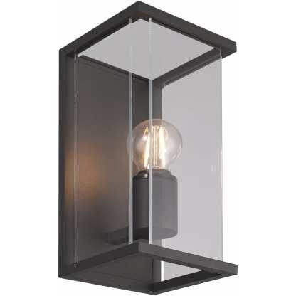 Bore III utelampe for vegg mørk grå IP54 | Belysning.online
