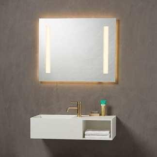 Kvilux baderomsspeil med lys og corona H 650 x B 1200 | Belysning.online