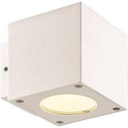 CUBE LED UTELAMPE VEGG HVIT, IP54 | Belysning.online