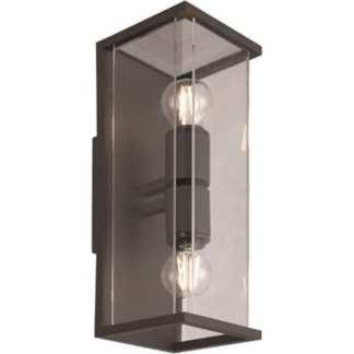 Bore II utelampe vegg mørk grå IP54 | Belysning.online