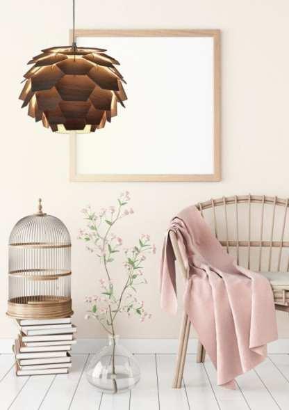 Carpatica taklampe 41 Cm E27 60W Brun | Belysning.online